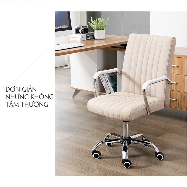 Ghế văn phòng - Ghế làm việc vải bố - Ghế văn phòng chân thép ghế vải giá rẻ