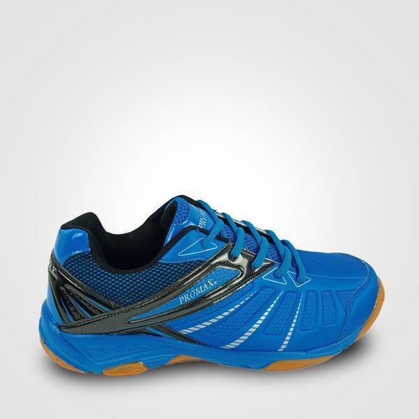 Giày cầu lông, giày bóng chuyền Promax PR 19018 màu xanh đế cao su cao cấp ôm chân bám sân siều êm nhẹ