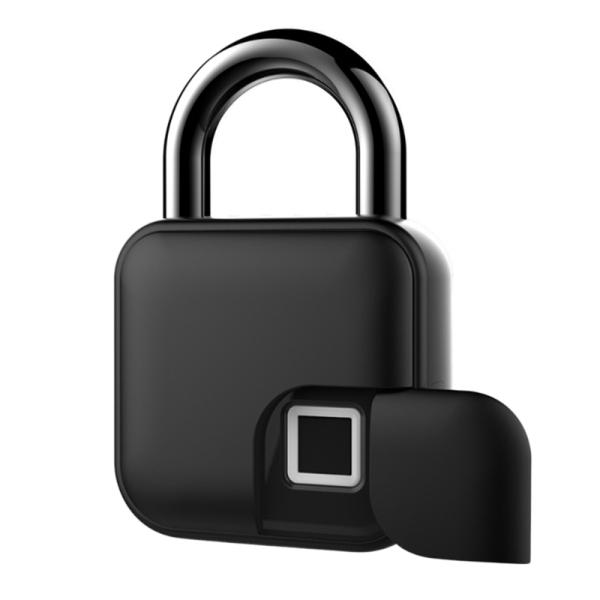 Fingerprint Padlock, Multifunction Anti Theft Keyless Padlock for Lockers IP 65 Waterproof USB Rechargeable
