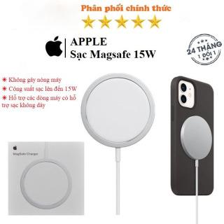 Sạc không dây Apple MagSafe cho iPhone 12, sạc không dây chuẩn Qi, Sạc Nhanh Cho iPhone 12 Pro Max, 12 Mini, iPhone 11, 11Pro Max 15W, An toàn cho thiết bị. ( BẢO HÀNH 12 THÁNG ) thumbnail