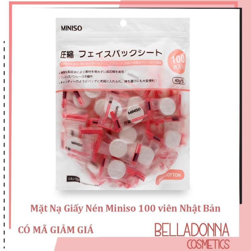 Mặt Nạ Giấy Nén Miniso 100 viên Nhật Bản nhập khẩu
