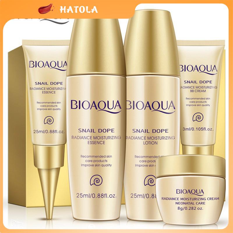 HATOLA - Bộ kít dưỡng ẩm ốc sên làm trắng da ngăn ngừa lão hóa, bộ dưỡng da, chăm sóc da da mặt OS-1