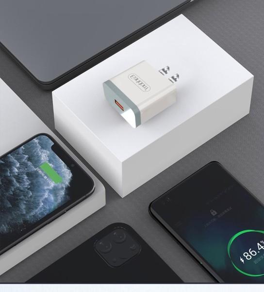 Củ Sạc Nhanh Chuẩn Quick Charge 3.0 18W - Củ sạc tích hợp mọi loại thiết bị và điện thoại iphone cho iPhone 11/12 Promax
