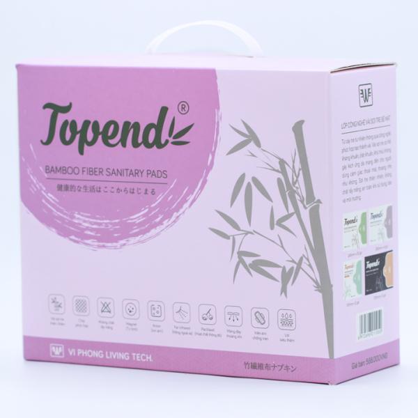 Bộ Combo 21 Gói Băng Vệ Sinh Topend Vải Sợi Tre Khử Mùi, Kháng Nấm, Tiêu Viêm (109 Miếng/Hộp) - Dùng Được 3 Tháng cao cấp
