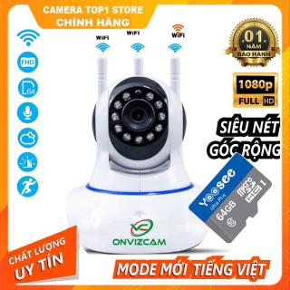 Camera CARECAM 3 AnTen Full HD 2.0Mpx 1080p Xoay 360 Quan Sát Rõ Ngày Đêm Kèm Thẻ Nhớ 64gb CHÍNH HÃNG thumbnail
