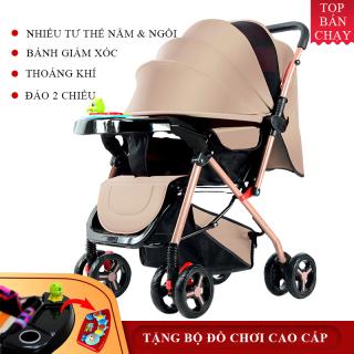 Xe nôi xe đẩy em bé, bản cao cấp có thể gấp xách tay cho bé 6 tháng - 3 tuổi, Xe Đẩy Em Bé Du Lịch Ngoài Trời Cho Em Bé, Giá CựcTốt - Chất Liệu Bền Đẹp, Thoáng Mát, Thoải Mái, BẢO HÀNH 2 NĂM LỖI 1 ĐỔI 1 TRONG 7 NGÀY ĐẦU thumbnail