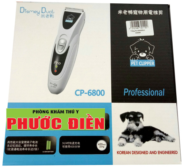 CP 6800 Pro - Tông đơ cạo lông chó, mèo