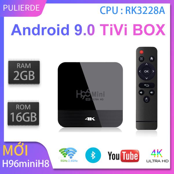 Mới H96mini H8 4K tivi box Android 9.0 2GB 16GB Hỗ trợ 2.4G và 5GWiFi Hỗ trợ Bluetooth Trình phát đa phương tiện thông minh smart TV box