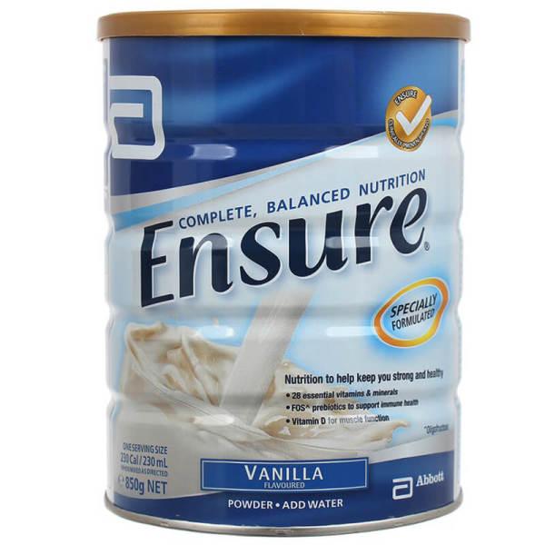 Sữa Ensure Úc 850G Chính Hãng Giá Cực Rẻ cao cấp