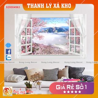 [THANH LÝ XẢ KHO] Tranh dán tường 3d - Tranh 3D Cửa Sổ -920004563- Giấy dán tường 3d - Song Long Decor thumbnail