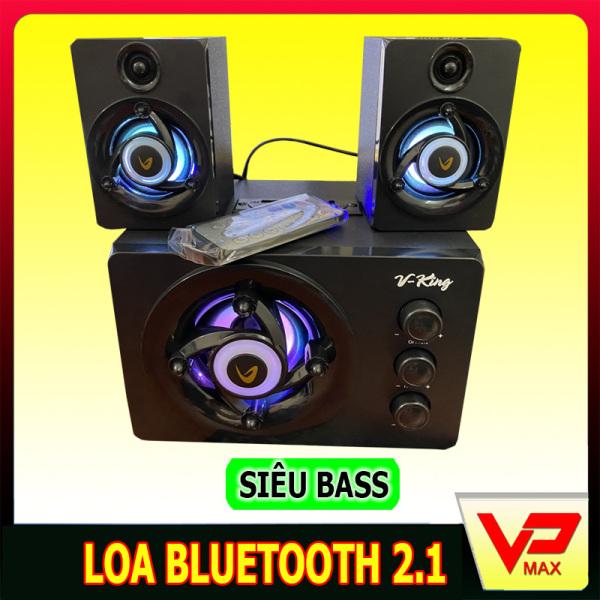 Bảng giá Loa bluetooth Bluetooth Vking 2.1 bass mạnh có đèn led dùng được máy tính laptop Phong Vũ