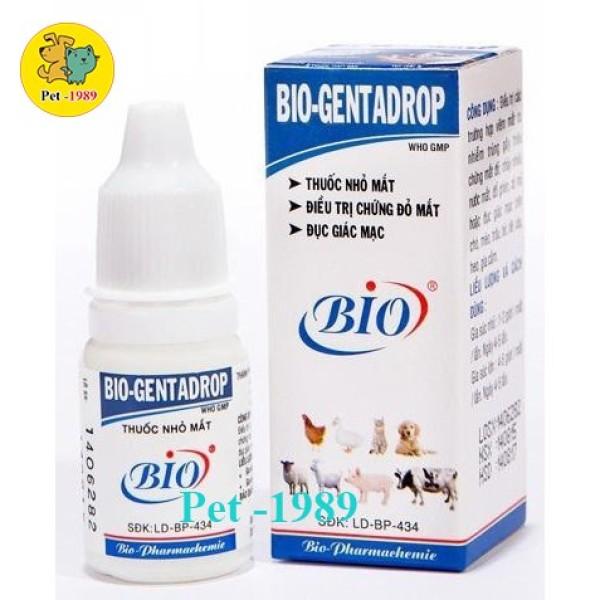 Chai Nước Nhỏ Mắt Bio - Gentadrop 10ml Cho Thú Cưng Chó Mèo Pet-1989