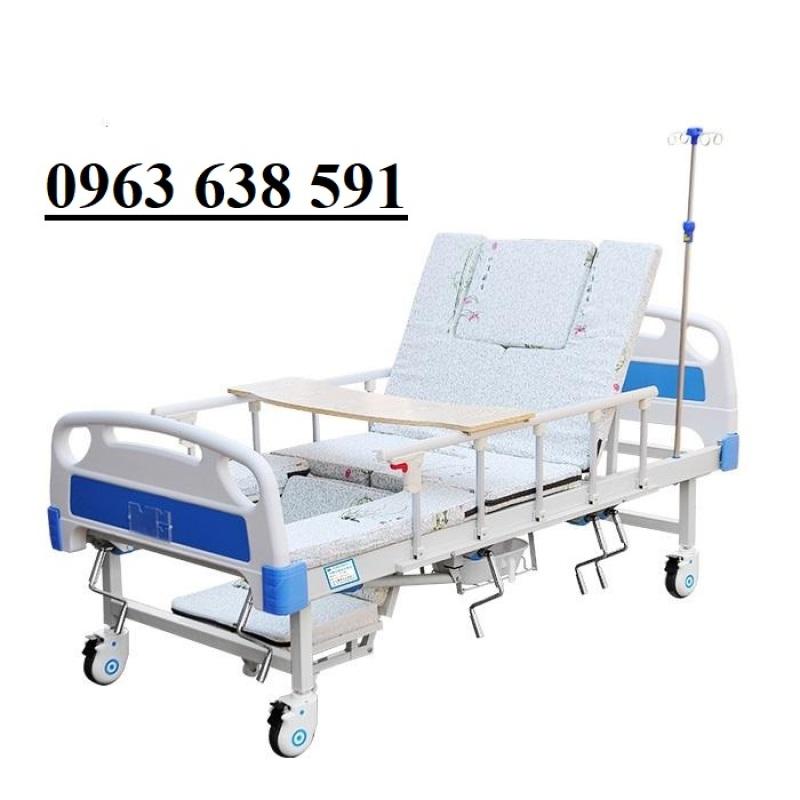 Giường Y Tế - Giường Bệnh Cao Cấp 4 Tay Quay - Giường Y Tế Đa Năng