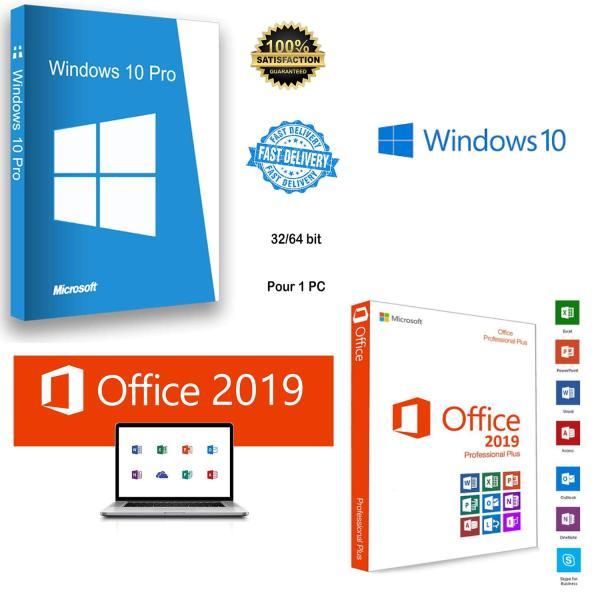 Bảng giá Bản quyền sử dụng Windows 10 Pro 32/64 bit + MS Office 2019 Phong Vũ
