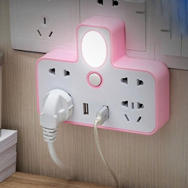 Bảng giá Ổ Cắm Điện - Ổ Điện Đa Năng Loại Xịn Có Cổng Gắn USB Sạc Điện Thoại Kiêm Đèn Ngủ Cực Đẹp - Ổ điện chia 2 cổng USB kiêm đèn ngủ, Ổ CẮM ĐIỆN THÔNG MINH KIÊM ĐÈN NGỦ LED & 2 CỔNG USB CÓ CÔNG TẮC