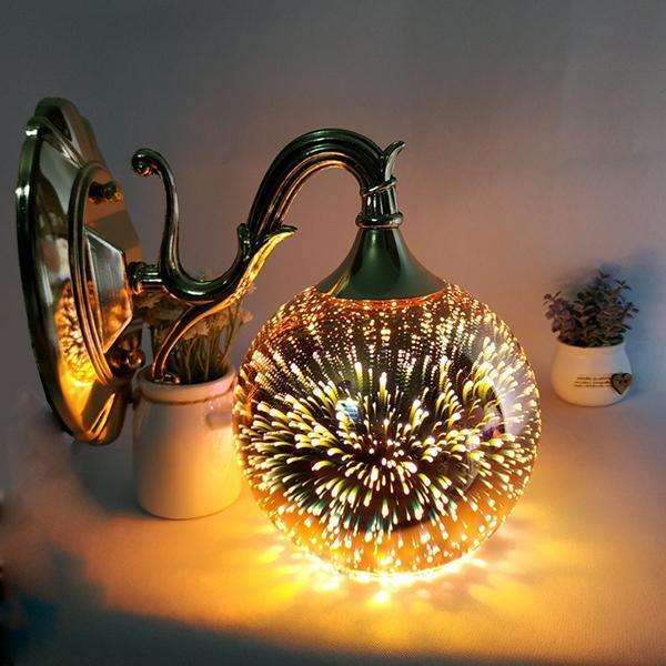 Đèn gắn tường - đèn tường - đèn vách quả cầu lửa 3D trang trí siêu lung linh - đã kèm bóng LED