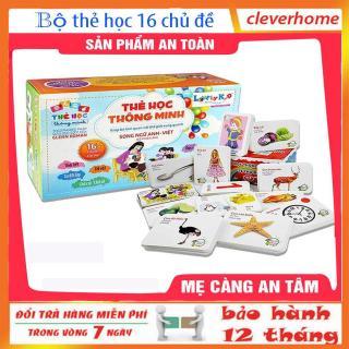 Bộ thẻ học 16 chủ đề ngữ anh-việt thông minh cho bé,bộ thẻ học 16 chủ đề thumbnail