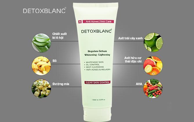 Sữa rửa mặt sinh học Detox BlanC 150ml thải độc da