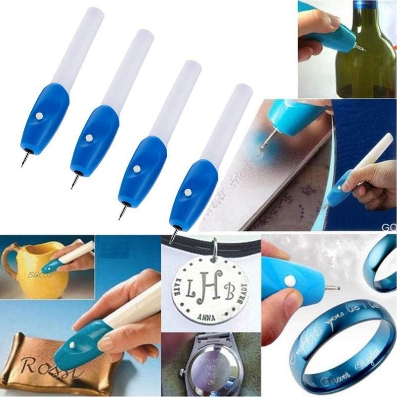 Mua 4-Pack Cordless Electric Engraving Pen Carve Tool With Tips For Diy Jewelry Metal Wood Ceramic Glass