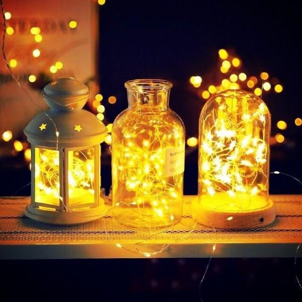 Dây Đèn Led Fairy Light Không Chớp Màu Vàng Nắng, Đèn Led Trang Trí Phòng, Nhà Cửa, Noel, Đèn Led Trang Trí Tiệc Cưới