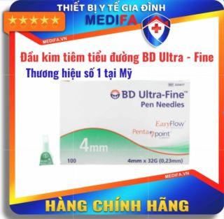 Đầu kim tiêm tiểu đường hộp 100 kim - BD ULTRA - FINE (PEN NEEDLES) Sử dụng cho bút chích Insulin đái tháo đường thumbnail