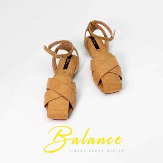 Balance Giày Sandals Quai Chéo Mũi Thoáng - Nâu thumbnail