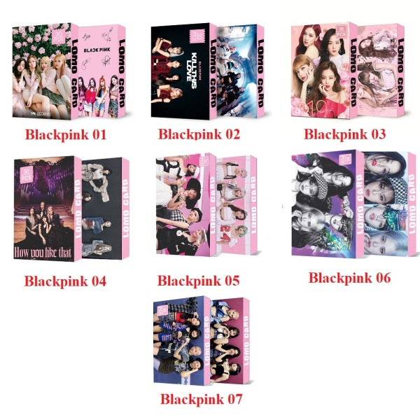 7 Mẫu Lomo Card Kpop Blackpink Kèm Ảnh Thật Mẫu Mới 2021
