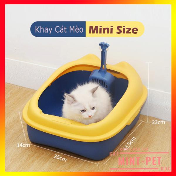 Khay Đựng Cát Vệ Sinh Cho Mèo Kèm 01 Xẻng Xúc - Chậu Vệ Sinh Cho Mèo