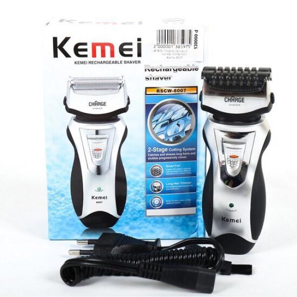 Máy cạo râu 2 lưỡi kép Kemei 8007 cao cấp hiệu quả giá rẻ