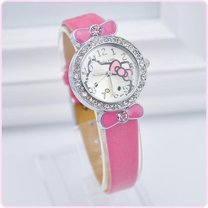 HDH6001 - Đồng hồ Kitty bé gái hàng nhập bán chạy