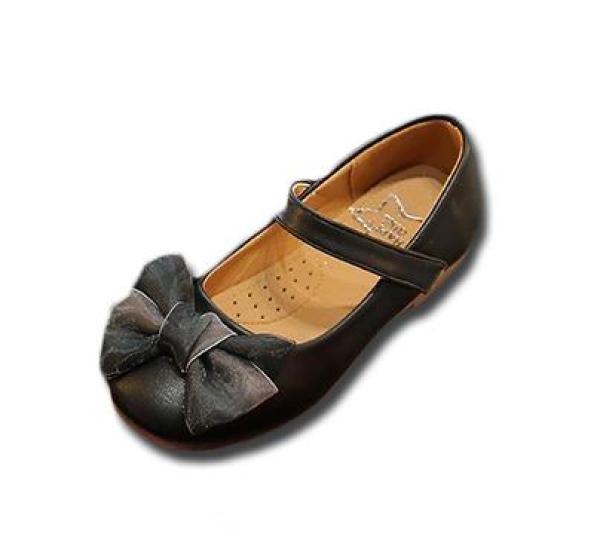 Giá bán Giày cho bé gái 6-10 tuổi đính nơ voan tinh tế, sang trọng BBShine – G30