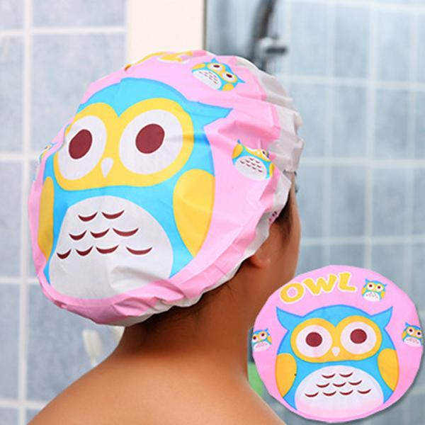 Combo 2 mũ tắm chùm kute đầu dành cho nữ dùng khi tắm gội, ủ tóc, trang điểm, rửa mặt
