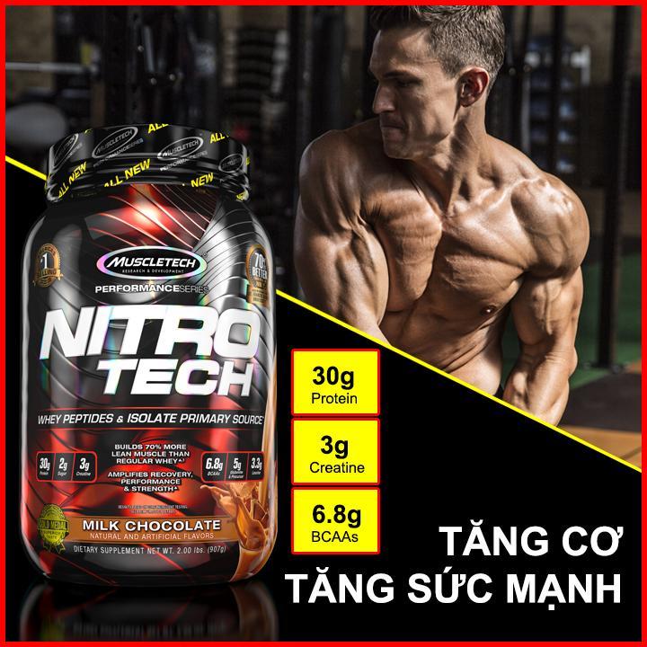 Thực phẩm bổ sung tăng cơ NITRO TECH hộp 2lbs (907g) cao cấp