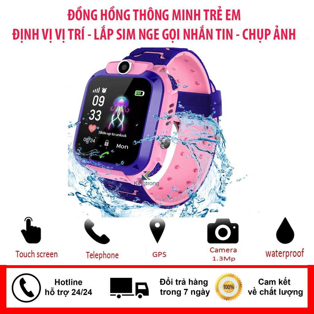 Đồng hồ thông minh, smartwatch chính hãng   Đồng Hồ Thông Minh theo dõi trẻ em , đồng hồ định vị cho trẻ em,lắp sim nge gọi,nhắn tin, chụp ảnh quay phim...