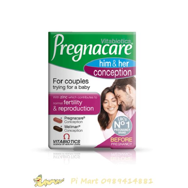 Viên uống tăng khả năng thụ thai Pregnacare Him and Her Conception cao cấp