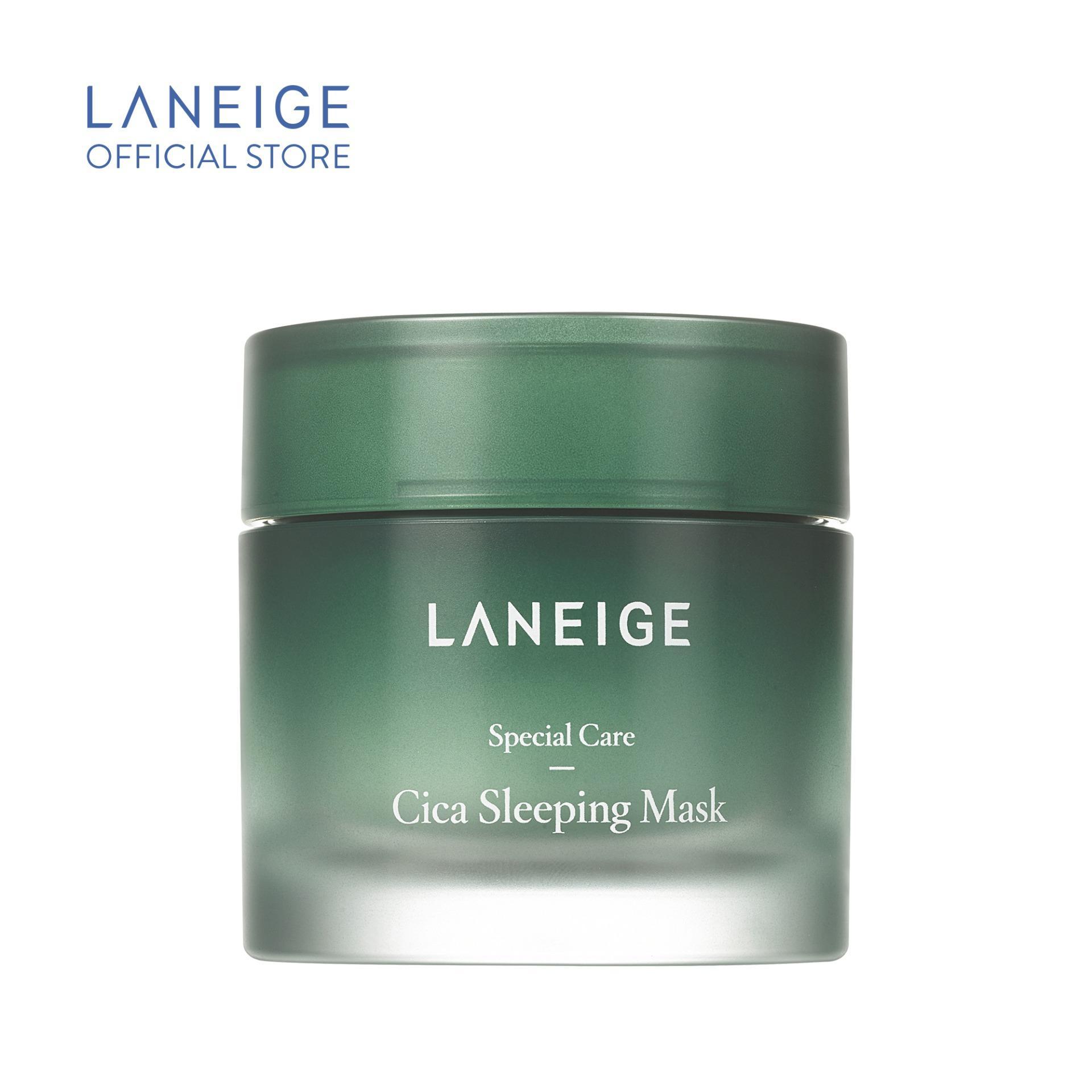 [Mới] Mặt nạ ngủ giúp phục hồi và tăng cường hàng rào bảo vệ da Laneige Cica Sleeping Mask 60ml nhập khẩu