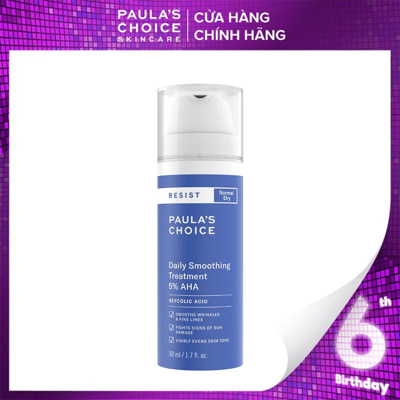 Kem tẩy da chết bề mặt làm sáng mịn và đều màu  da Paula's Choice RESIST Daily Smoothing Treatment With 5% AHA 50 ml 7660 giá rẻ
