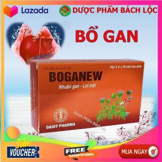 Bổ Gan Boganew - Giúp Thanh Nhiệt, Giải Độc , Mát Gan- Hộp 100 viên- HSD 2023 thumbnail