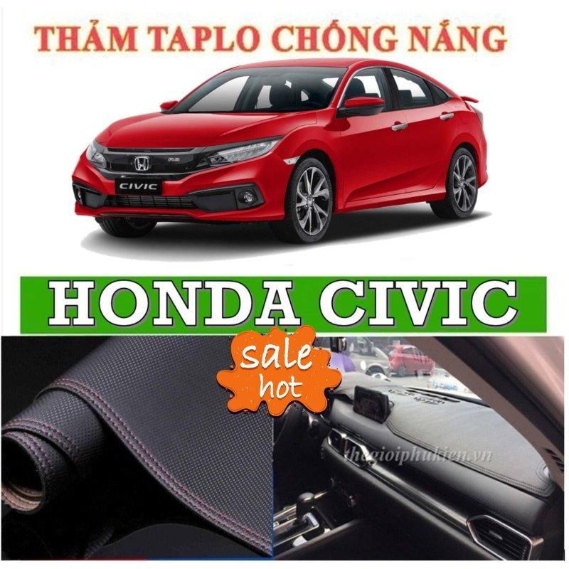 Thảm phủ taplo da xe Honda CIVC đời 2016 2019, thảm taplo da vân cacbon-Nhà Buôn Đồ Chơi Xe Hơi
