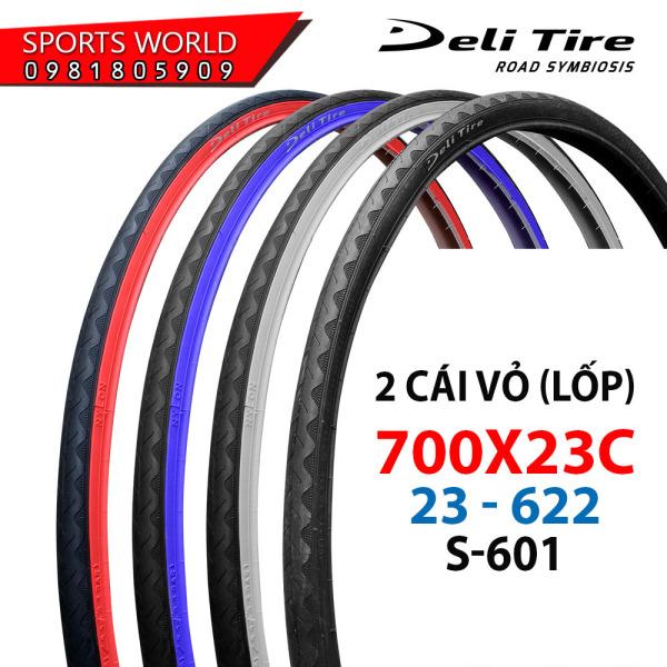 Mua 2 cái vỏ lốp xe đạp 700x23C gai S-601 DELI-TIRE - INDONESIA