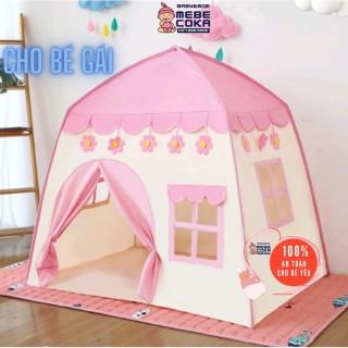 Lều cho bé ,lều công chúa hoàng tử cắm trại gồm 2 màu xanh hồng loại CAO CẤP (mẫu mới 2021) thumbnail