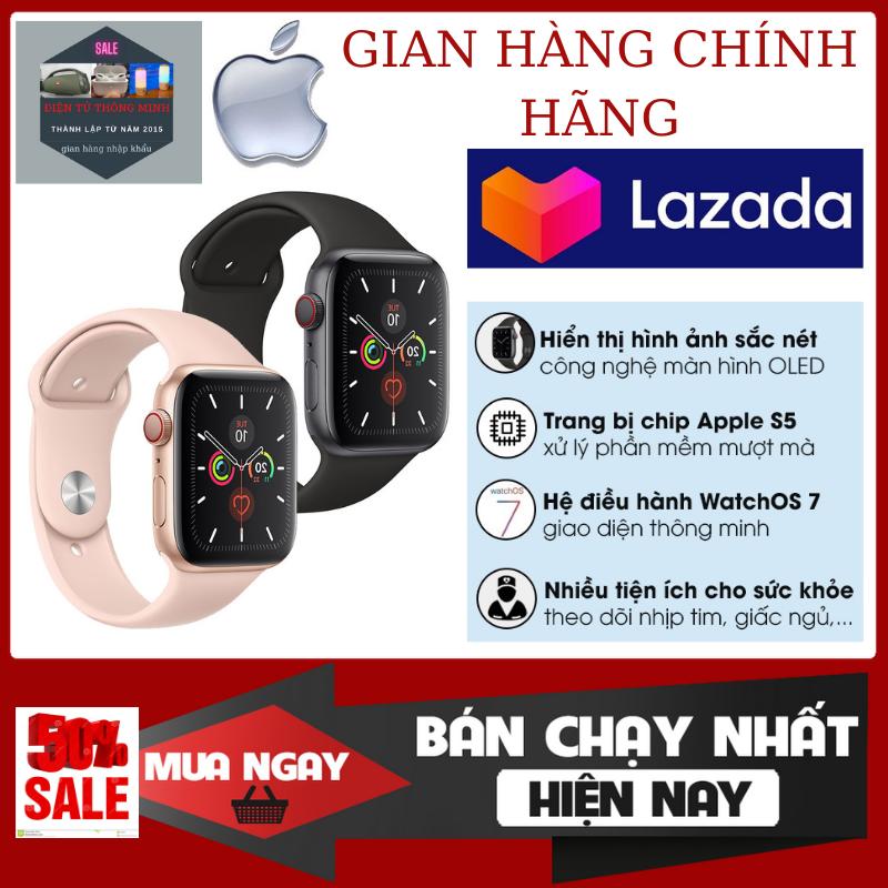 [ PHIÊN BẢN MỚI] Đồng Hồ Thông Minh Apple Watch Series 6 , Touch Screen Full 1.75 Inch, , Smartwatch Sử Dụng Chip S6. Đa Chức Năng, -Chống NướcIP68 -Kết Nối Điện Thoại Qua BlueToothBlueTooth-Hiển Thị Cuộc Gọi -Tin Nhắn