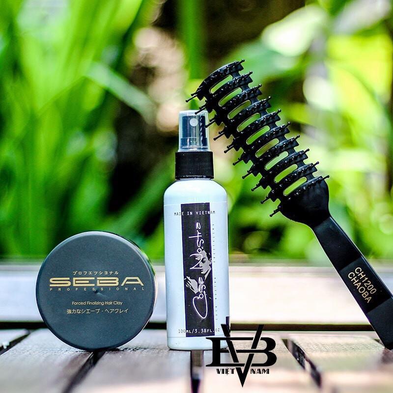 [COMBO] Sáp Vuốt Tóc SEBA 80g Công Nghệ Nhật Bản + Xịt Dưỡng Tóc Cosa Nostra Spray 100ml Pre-Styling +Tặng Lược Tạo Kiểu
