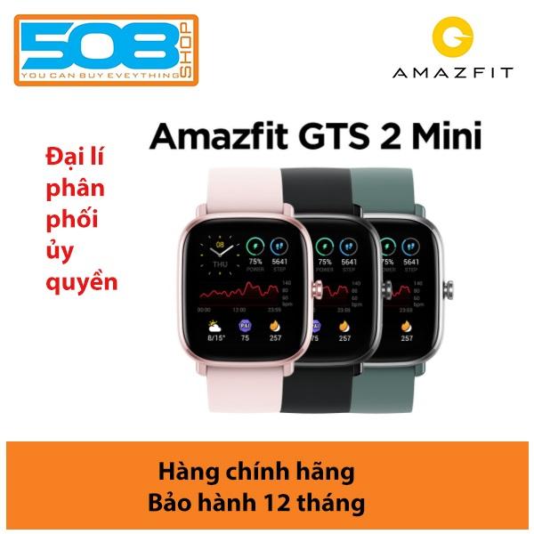 Đồng hồ Amazfit GTS 2 Mini, Đồng hồ thông minh Amazfit GTS 2 mini- Bản quốc tế - Ngôn ngữ tiếng Việt, GPS, Theo dõi nhịp tim, Đo nồng độ Oxy - Bảo hành 12 tháng