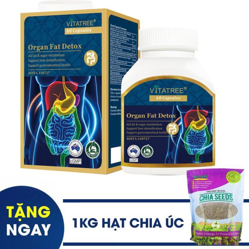[ TẶNG 1 TÚI HẠT CHIA ĐEN 1KG  ] Viên Uống Thải Mỡ Toàn Thân -VITATREE  Organ Fat Detox - 60 Viên cao cấp