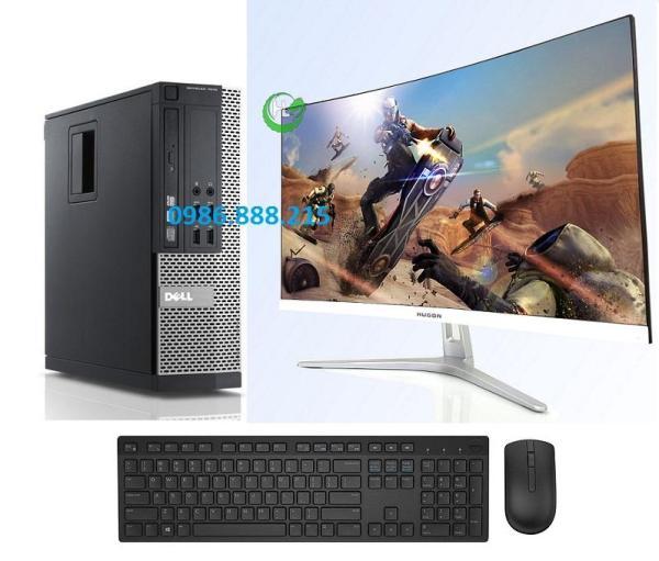 Bảng giá Bộ máy tính Văn phòng Dell Optiplex  (Core i7 2600 - Core i5 - Ram 8Gb - SSD 120Gb) Màn hình Cong 24 inch - Tặng Bàn phím chuột - Chuyên dùng cho Công ty Doanh Nghiệp Phong Vũ
