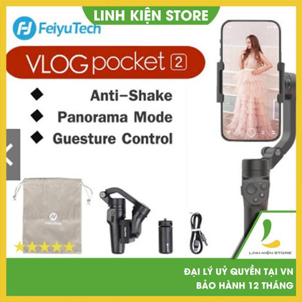 [HCM]Gimbal chống rung Feiyu Vlog Pocket 2 - tay cầm chống rung cho điện thoại - pin 8H -Bảo hành 12 tháng