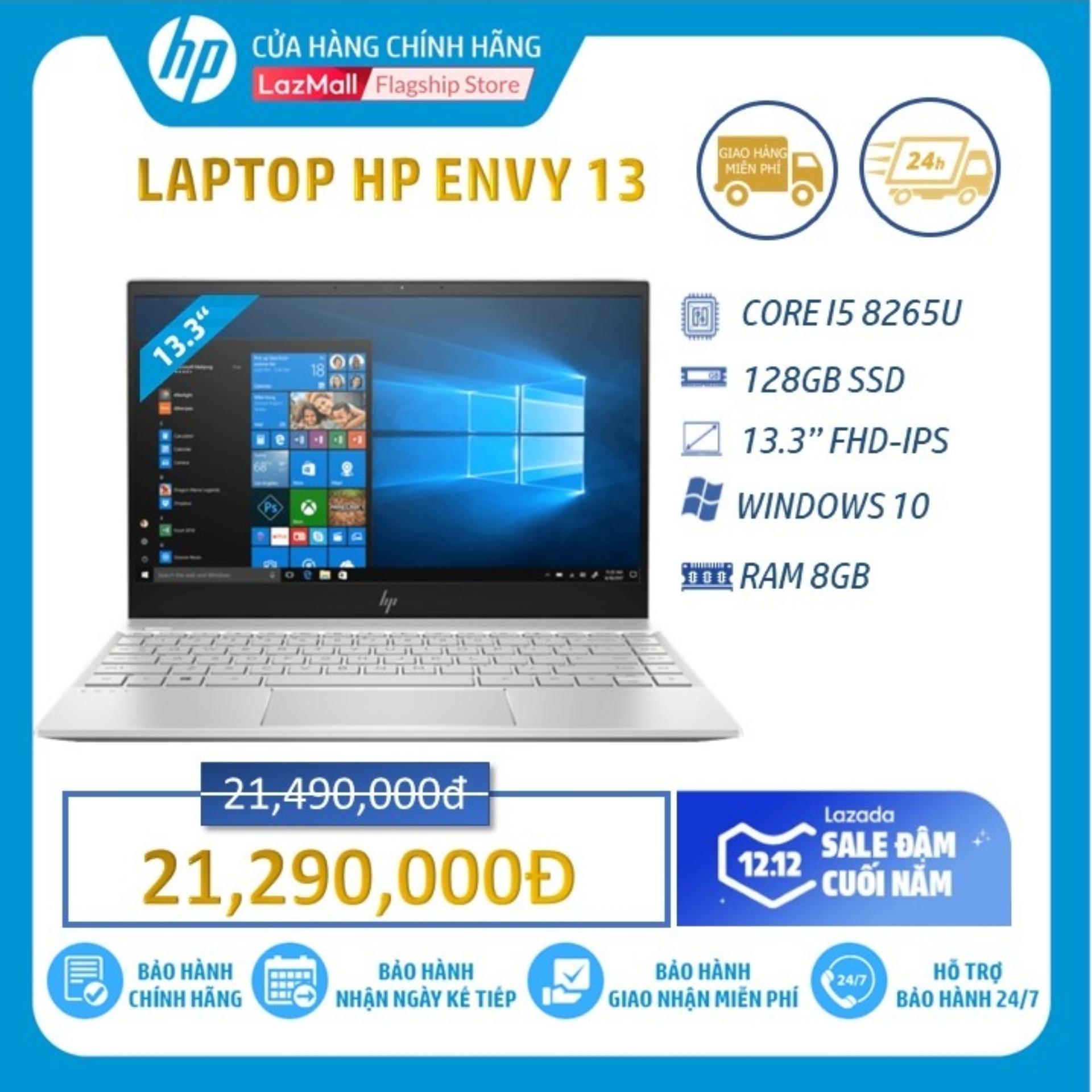 Laptop HP ENVY 13-AQ0025TU (Intel Core I5-8265U/ 8GB RAM DDR4/ 128GB SSD/ 13,3 FHD/WIN10 HOME/Gold-6ZF33PA) - Hàng Chính Hãng