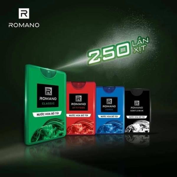 Nước Hoa Bỏ Túi cho 250 lần xịt Romano 18ml mẫu mới