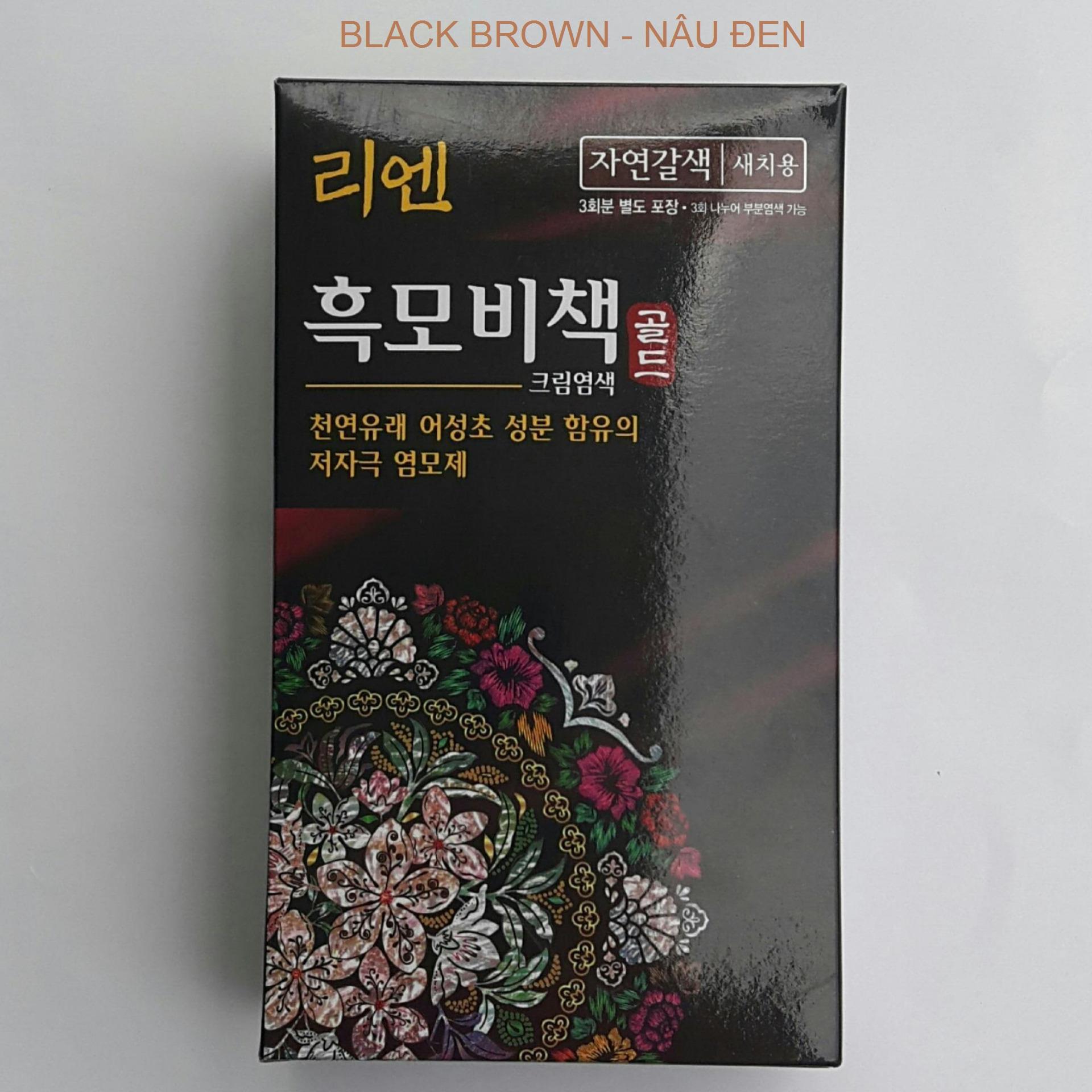 Kem nhuộm phủ Bạc Reen ( Black Brown)  Nâu Đen - Hàn Quốc